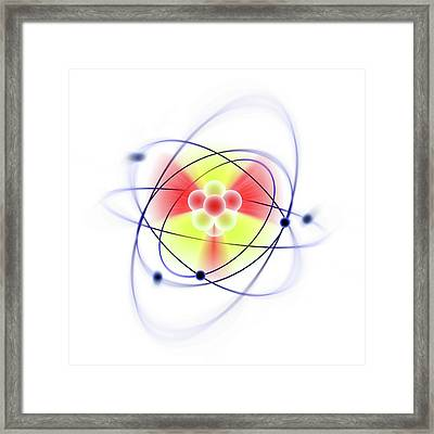 Atomic Structure Framed Print