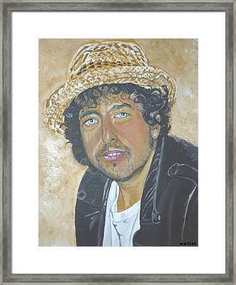 Bob Dylan Framed Print by Laurette Maillet