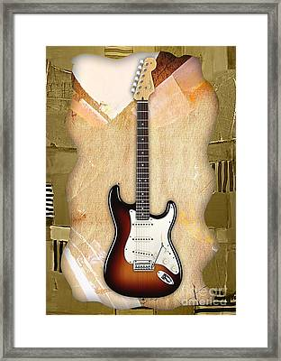 Fender Stratocaster Collection Framed Print by Marvin Blaine