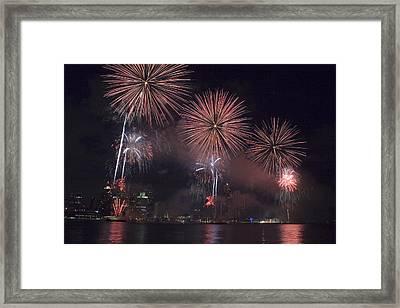 Fireworks Framed Print by Gary Marx