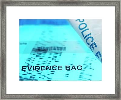 Forensic Evidence Framed Print by Tek Image