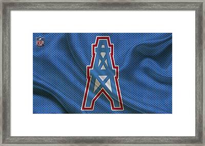 Houston Oilers Framed Print by Joe Hamilton