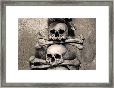 Human Bones. Framed Print