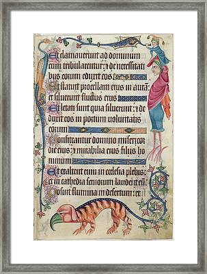 Luttrell Psalter Framed Print by British Library
