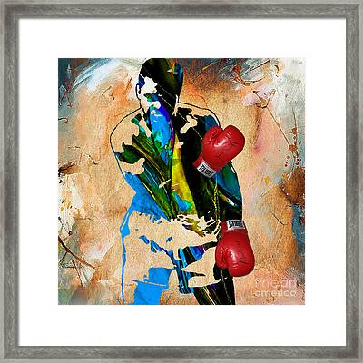 Muhammad Ali Framed Print by Marvin Blaine