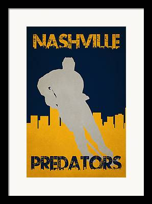 Nashville Predators Framed Prints