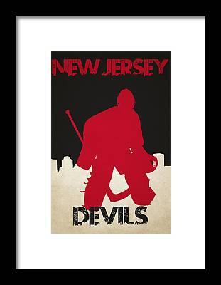 New Jersey Devils Framed Prints