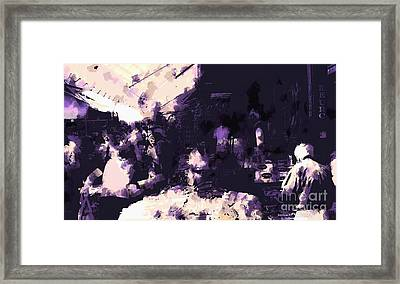 Open-air Market Framed Print