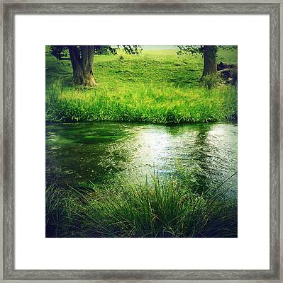 Spring Water Framed Print by Les Cunliffe
