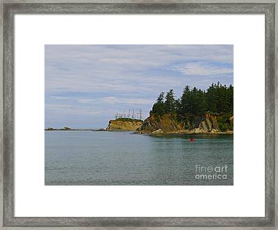 Sunset Bay State Park Framed Print by Gail Peters
