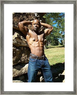 The Art Of Muscle Framed Print by Jake Hartz