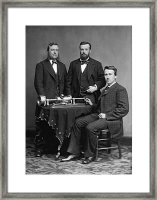 Thomas Edison (1847-1931) Framed Print by Granger
