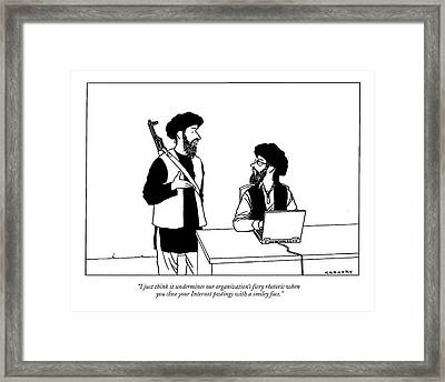 I Just Think It Undermines Our Organization's Framed Print by Alex Gregory