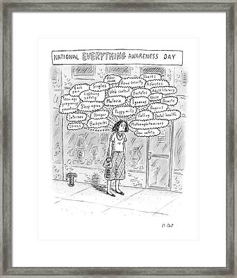 New Yorker September 3rd, 2007 Framed Print