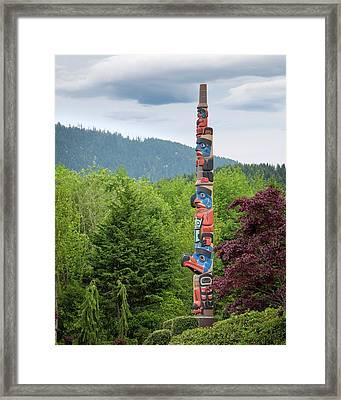 Usa, Washington State, Jamestown Framed Print