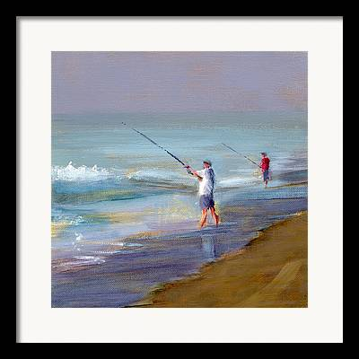 Fun Beach Art Framed Prints