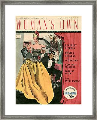 1940s Uk Womans Own Magazine Cover Framed Print by The Advertising Archives