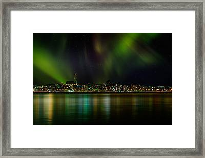 Aurora Borealis Or Northern Lights Framed Print