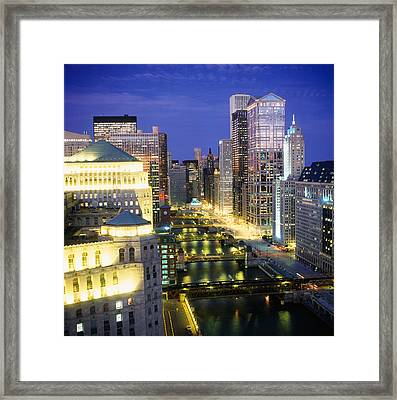Buildings At The Waterfront Framed Print