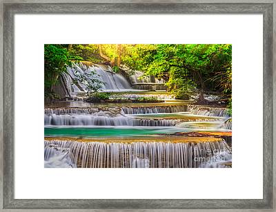 Erawan Waterfall Framed Print