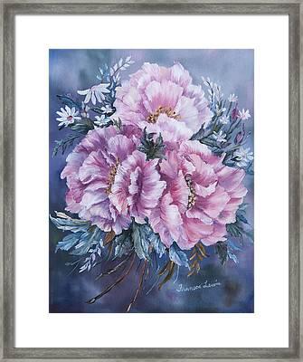 Peonies In Pink Framed Print