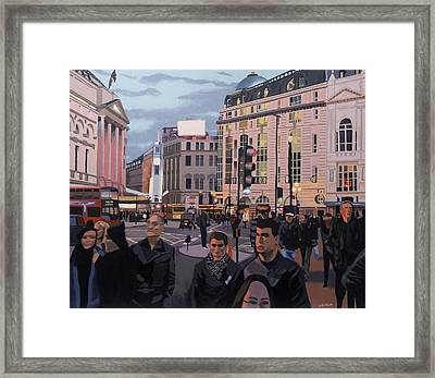 Piccadilly Circus Framed Print by Malcolm Warrilow