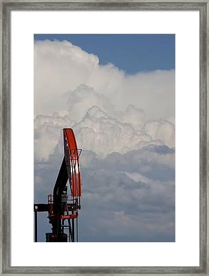 Prairie Storm Clouds Framed Print by Mark Duffy