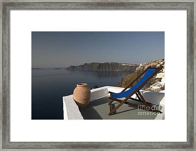 Santorini Framed Print by Borislav Stefanov