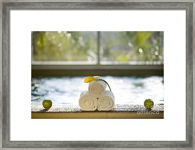 Spa Framed Print by Juan  Silva