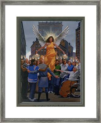 23. The Holy Spirit Arrives / From The Passion Of Christ - A Gay Vision Framed Print by Douglas Blanchard