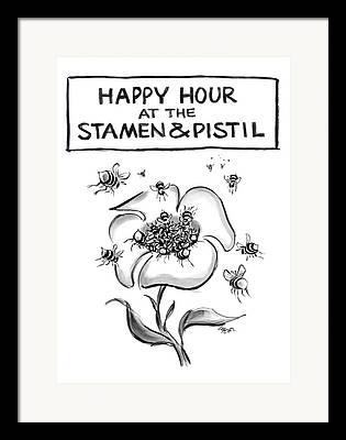 Stamen Drawings Framed Prints