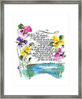 23rd Psalm Framed Print