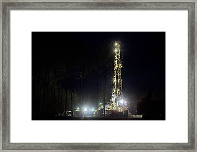 24 7 In The Brooklyn Oil Field Framed Print by JC Findley