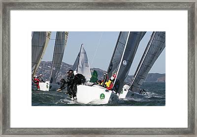 Bay Regatta Framed Print by Steven Lapkin