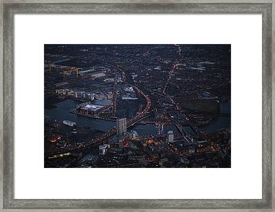 Belfast At Night, Northern Ireland Framed Print by Colin Bailie