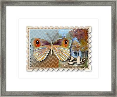24 Cent Butterfly Stamp Framed Print