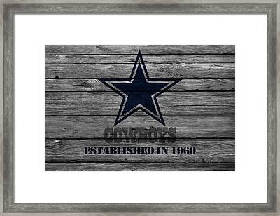 Dallas Cowboys Framed Print by Joe Hamilton