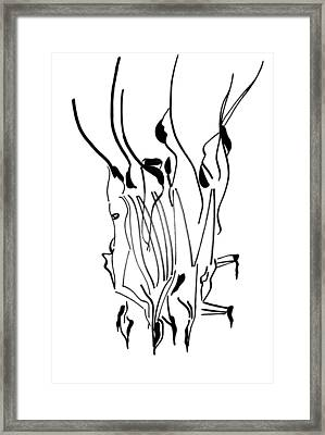 Dinka Dance - South Sudan Framed Print by Gloria Ssali