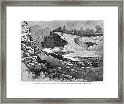 Johnstown Flood, 1889 Framed Print
