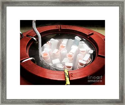 Laboratory Equipment In Science Research Lab Framed Print by Science Research Lab By Olivier Le Queinec