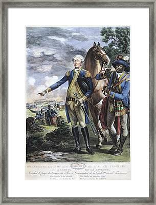 Marquis De Lafayette Framed Print by Granger