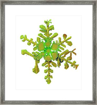 Snowflake Framed Print by Ars/us Dept Of Agriculture