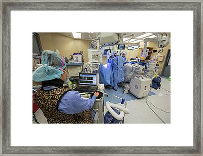 Spine Surgery Framed Print