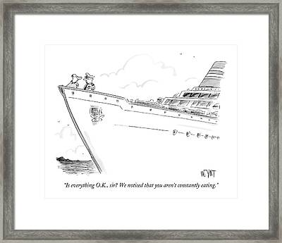 Is Everything O.k Framed Print