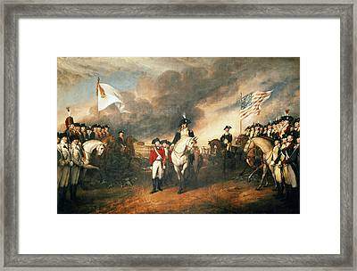 Yorktown Surrender, 1781 Framed Print by Granger