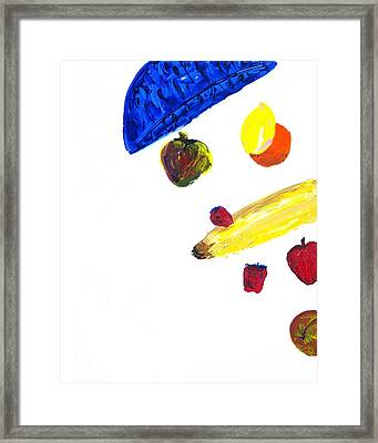 248 Spilled Life With Fruit Framed Print by Aaron Aadamson