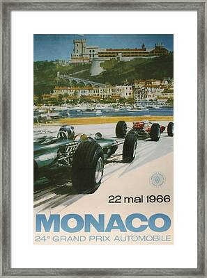 24th Monaco Grand Prix 1966 Framed Print by Georgia Fowler