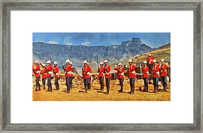 24th Regiment Of Foot - En Garde Framed Print