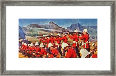 24th Regiment Of Foot - Rear Rank Fire Framed Print