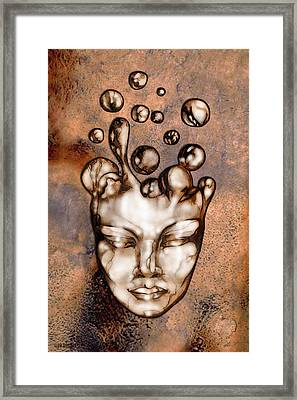 24x36 Slow Boil 014a Framed Print by Dia T